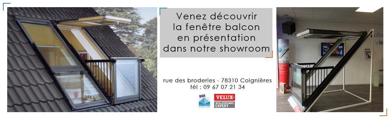 Ciel et lumi re installateur velux yvelines 78 for Fenetre balcon